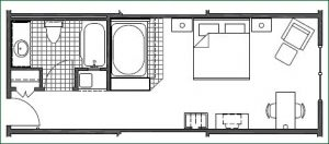 Floor plan 2 King Whirlpool