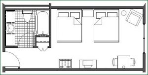 Floor plan - 2 Queen Standard