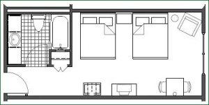 Floor plan - 2 Queen Standard